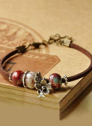 Vintage Floral Ball No Stone Beaded Bracelets (107519945)