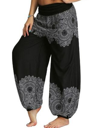 Women's Casual Polyester Yoga Pants Fitness & Yoga (104147283)