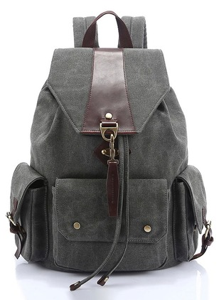 Backpacks Vintage Canvas Studded Adjustable Bags