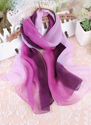 Casual Color Block Scarves (1195904)