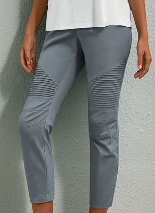 Casual Skinny High Waist Polyester Pants (106821508)
