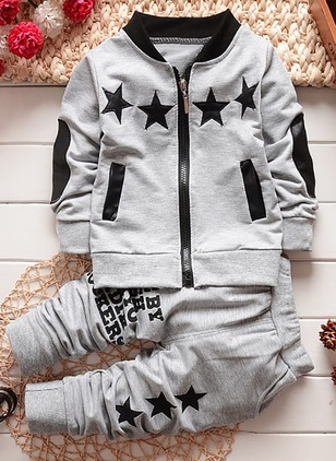 Boys' Geometric Going out Long Sleeve Clothing Sets