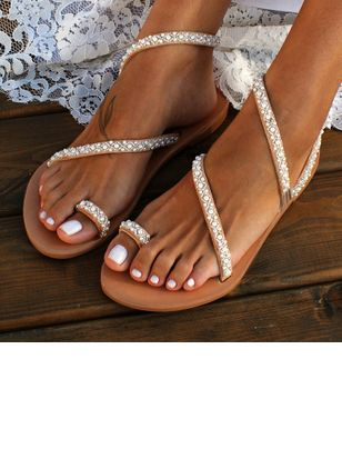 Women's Toe Ring Low Heel Sandals