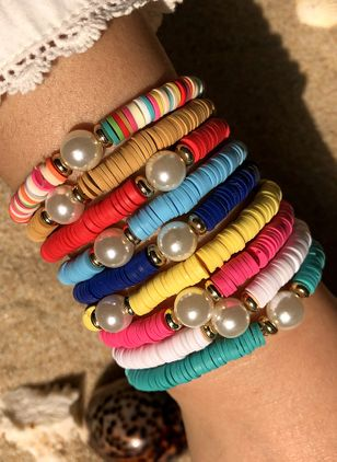 Boho Ball No Stone Beaded Bracelets (1540410)