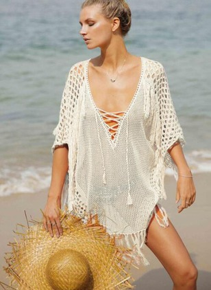 Cotton Halter Crochet Cover-Ups Swimwear