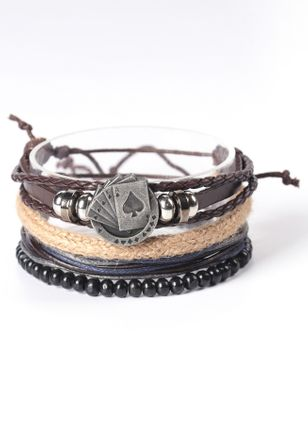 Casual Round No Stone Bangle Bracelets (6211652)