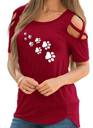 Cotton Animal Round Neck Short Sleeve T-shirts