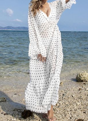 Chiffon Dot Cover-Ups Swimwear (112236594)