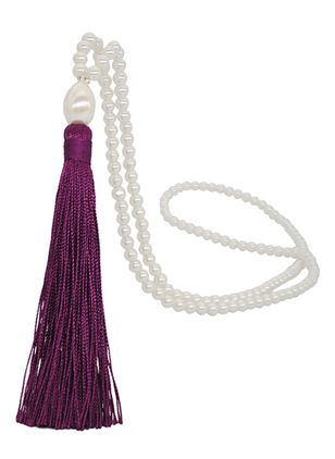 Casual Tassel Pearls Pendant Necklaces (4663261)