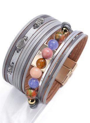 Casual Ball No Stone Cuff Bracelets (147183042)