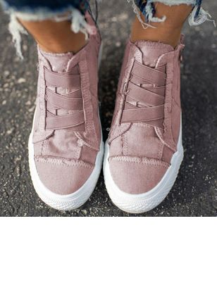 Denim Shoes With Zipper (5502397)