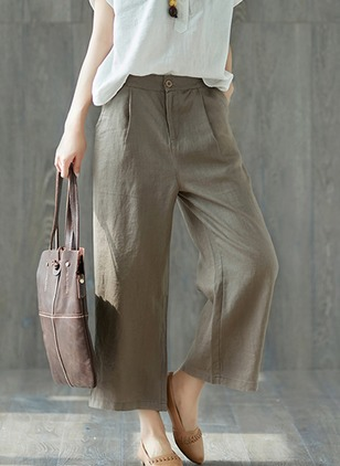 Loose Linen Pants Pants & Leggings (1195130)
