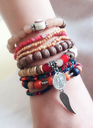Boho Ball Gemstone Beaded Bracelets (4038895)
