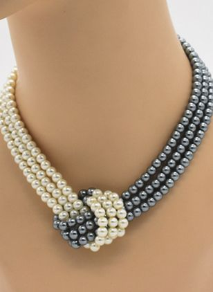Casual Ball Pearls Without Pendant Necklaces (4541236)