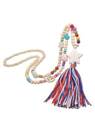 Casual Tassel No Stone Pendant Necklaces (6211634)