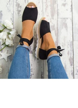 Ankle Strap Pumps Cloth Flat Heel Shoes (1180784)