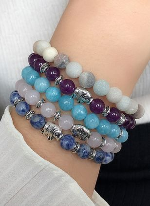 Vintage Ball Gemstone Beaded Bracelets (4072109)