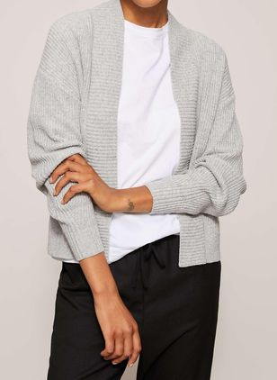 V-Neckline Solid Casual Loose Regular Shift Sweaters (146884088)