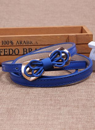 Cute Metal Bow Solid Belts