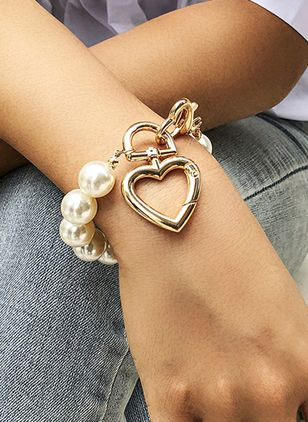 Casual Geometric Ball Pearls Beaded Bracelets (4294283)