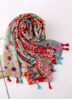 Casual Floral Scarves (1513353)