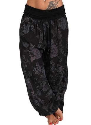 Casual Loose Mid Waist Polyester Pants (1344528)