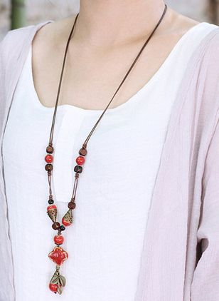 Boho Ball Pendant Necklaces (1518022)