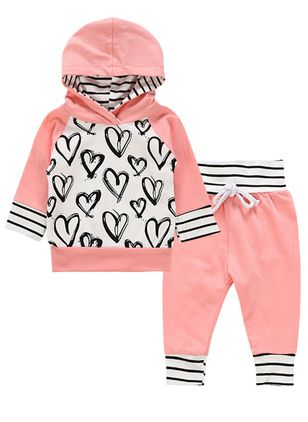 Girls' Casual Geometric Going out Long Sleeve Clothing Sets