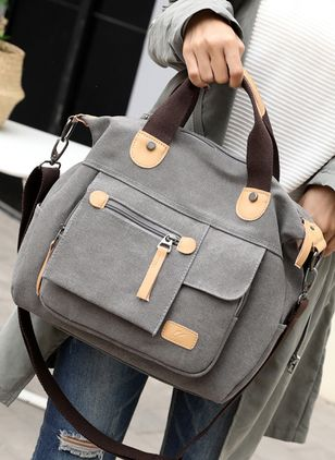Shoulder Fashion Zipper Double Handle Bags
