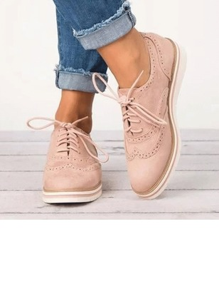 Lace-up Closed Toe Flat Heel Shoes (1246629)