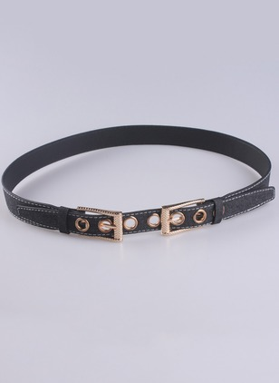 Casual Fabric Hollow Out Solid Belts
