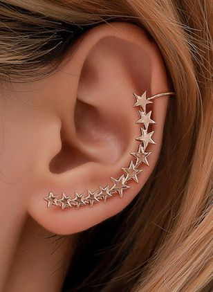 Elegant Star No Stone Stud Earrings (146892950)