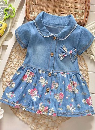Girls' Floral Going Out Short Sleeve Dresses
