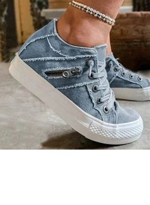 Denim Shoes With Zipper (5243537)