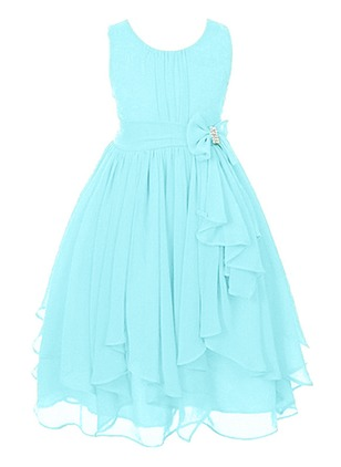 Girls' Solid Party Sleeveless Dresses (1196487)