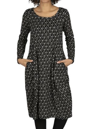 Casual Geometric Tunic Round Neckline A-line Dress (107805420)