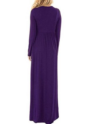 Casual Solid Pencil Round Neckline Sheath Dress (111109589)