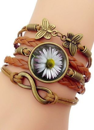 Casual Floral Geometric Animal Round No Stone Bracelets (4047738)