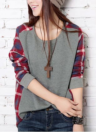 Polyester Color Block Round Neck Half Sleeve Casual T-shirts