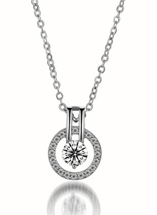 Casual Geometric Crystal Pendant Necklaces (147036793)
