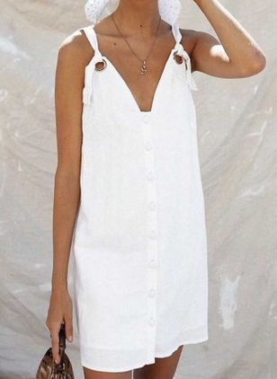 Chic Solid Tunic Camisole Neckline Shift Dress (4219771)