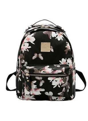 Backpacks Fashion PU Print Convertible Bags