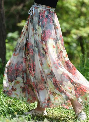 Floral Maxi Casual Skirts