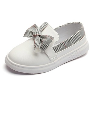 Girls' Bowknot Split Joint Stitching Lace PU Daily Girls' Shoes