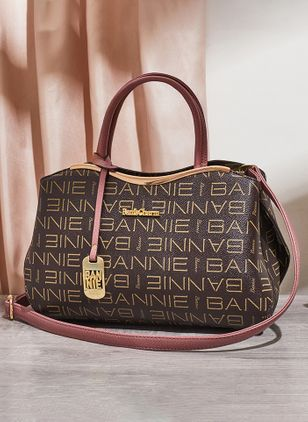 Shoulder Vintage Print Double Handle Bags (1350010)