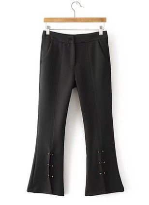 Bootcut Polyester Trousers Pants & Leggings