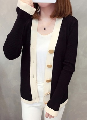 Polyester Long Sleeve Collarless Buttons Coats