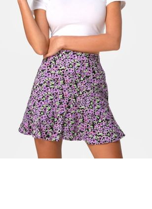 Floral Above Knee Casual Skirts (147152094)