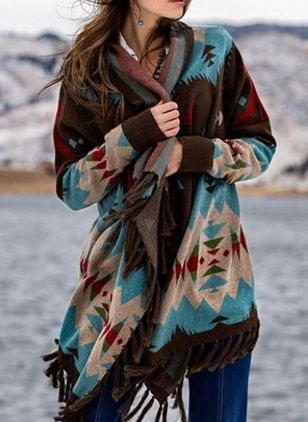 Sleeveless Blanket Coats (102930372)