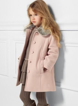 Girls' Vintage Color Block Collar Coats